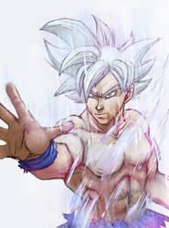 Ultra Instinct Goku by saiyanhajime