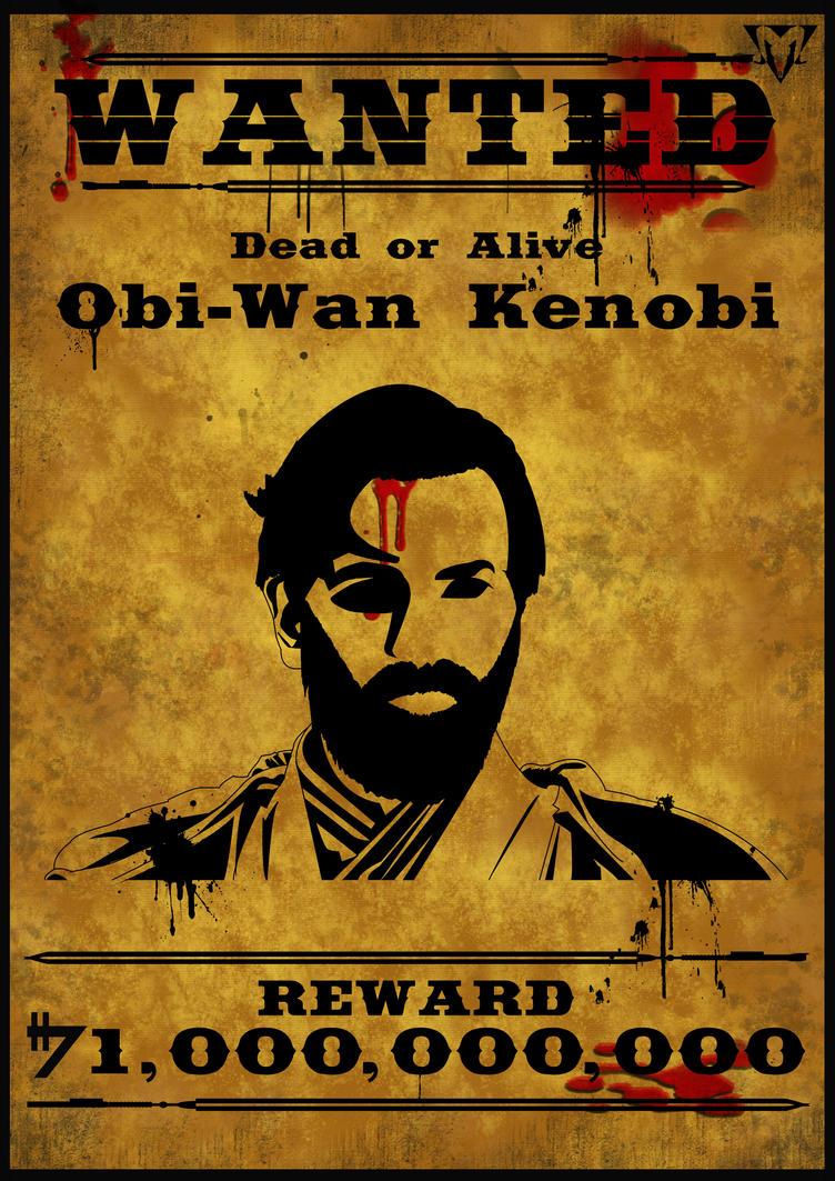 Wanted Obi-Wan Kenobi by Goatcookie