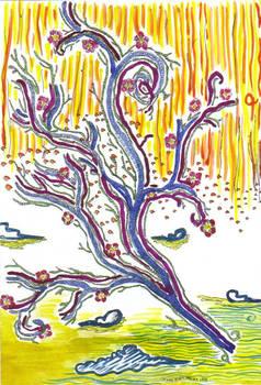 Flying Kites of Sakura Tree