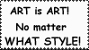 ART is ART Stamp by CadoTheInsaneFanGirl