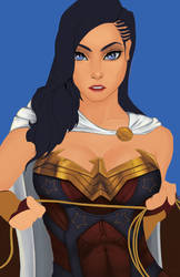 Wonder Woman WIP by 7caco