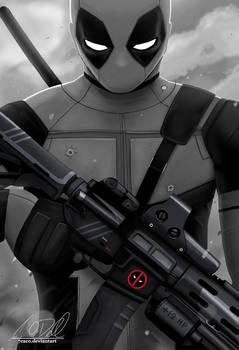 Commission: Deadpool b/w