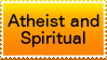 Atheist and Spiritual stamp by nothinplz