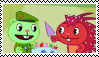 Happy Tree Friends: Flippy X Flaky (Stamp) by ADDICTEDTOSANDWICHES