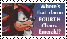 Wheres that damn FOURTH chaos emerald (stamp) by ADDICTEDTOSANDWICHES