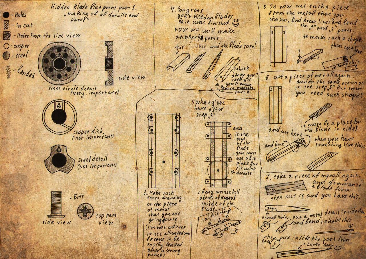 hidden blade blueprint by Kudrik