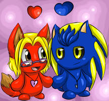 Chao Couple by Fire-Girl872