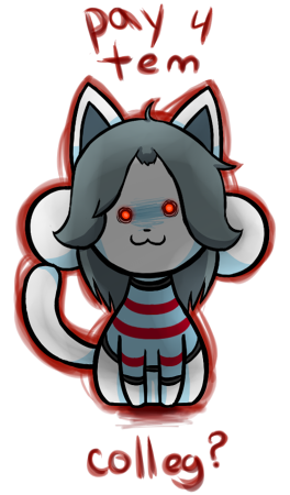 Genocide Temmie by Fire-Girl872
