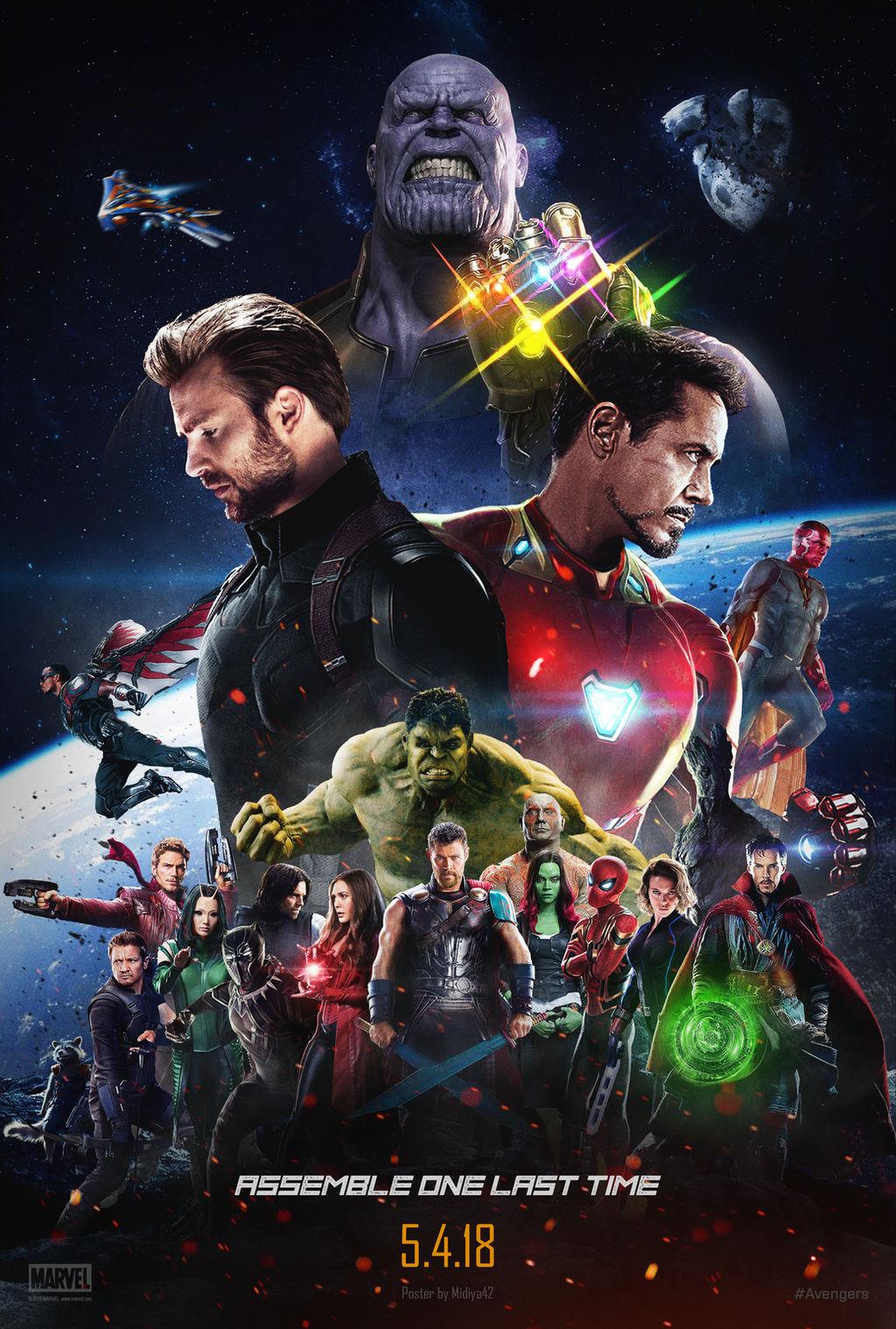 Avengers Infinity War 2018 Poster By Midiya42 On Deviantart