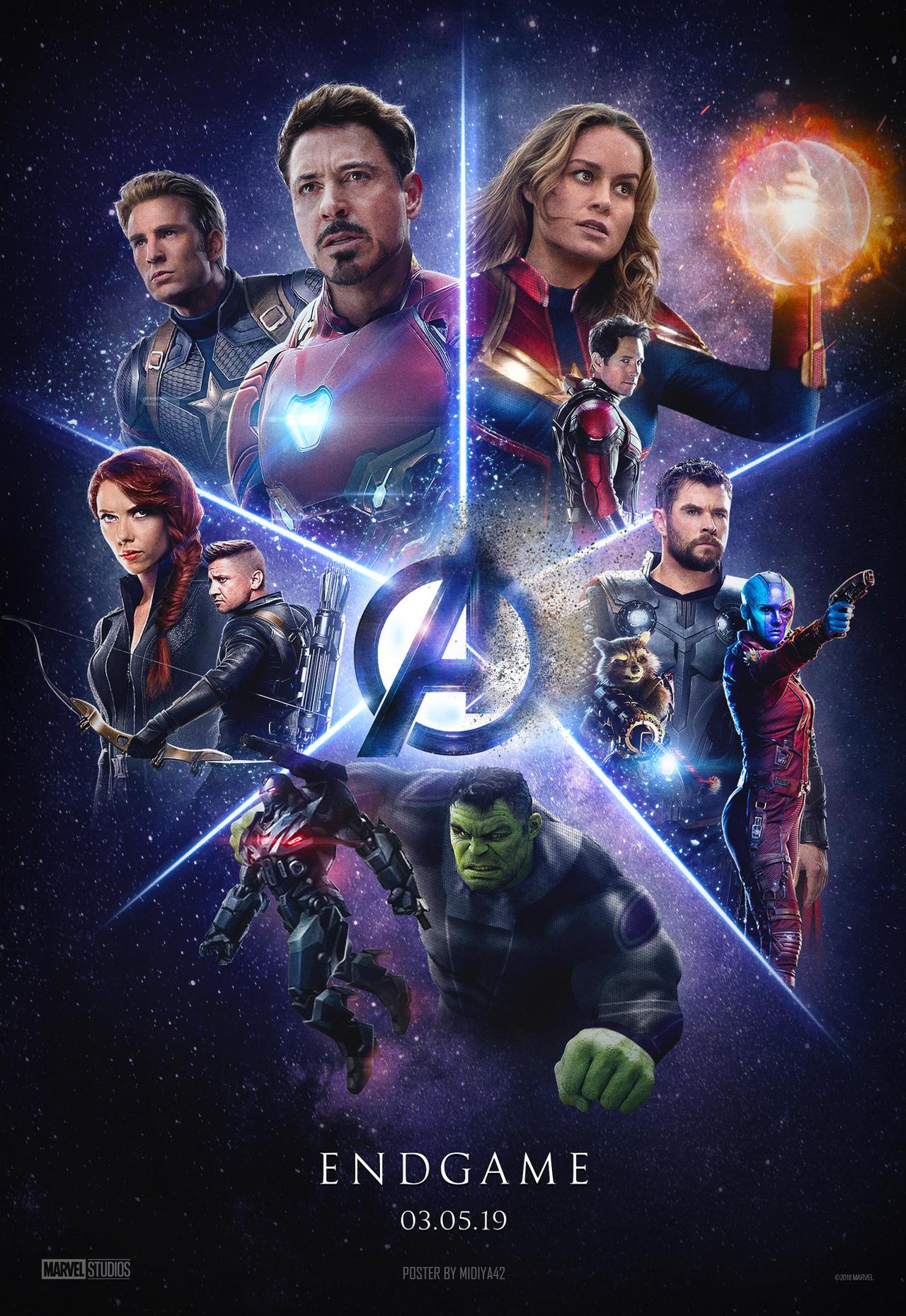 Avengers 4 Endgame 2019 Poster By Midiya42 On Deviantart