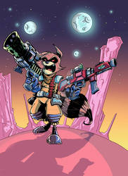 Rocket Raccoon by Faber-RedBeard