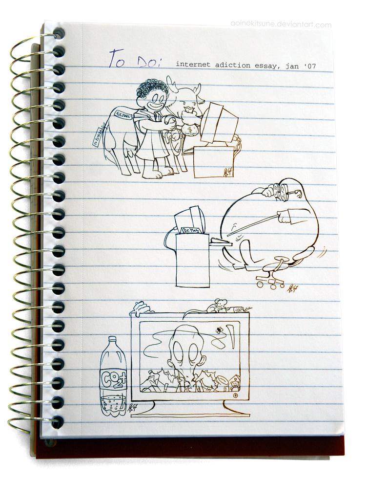 internet addiction essay art by aoinokitsune on deviantart