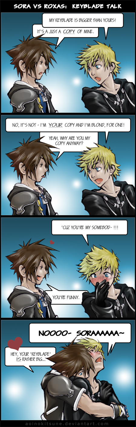 KH - Keyblade Talk - yaoi by AoiNoKitsune