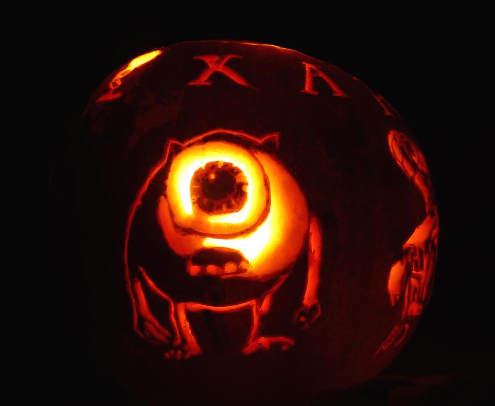 Mike Wazowski Pumpkin by Riko639 on DeviantArt