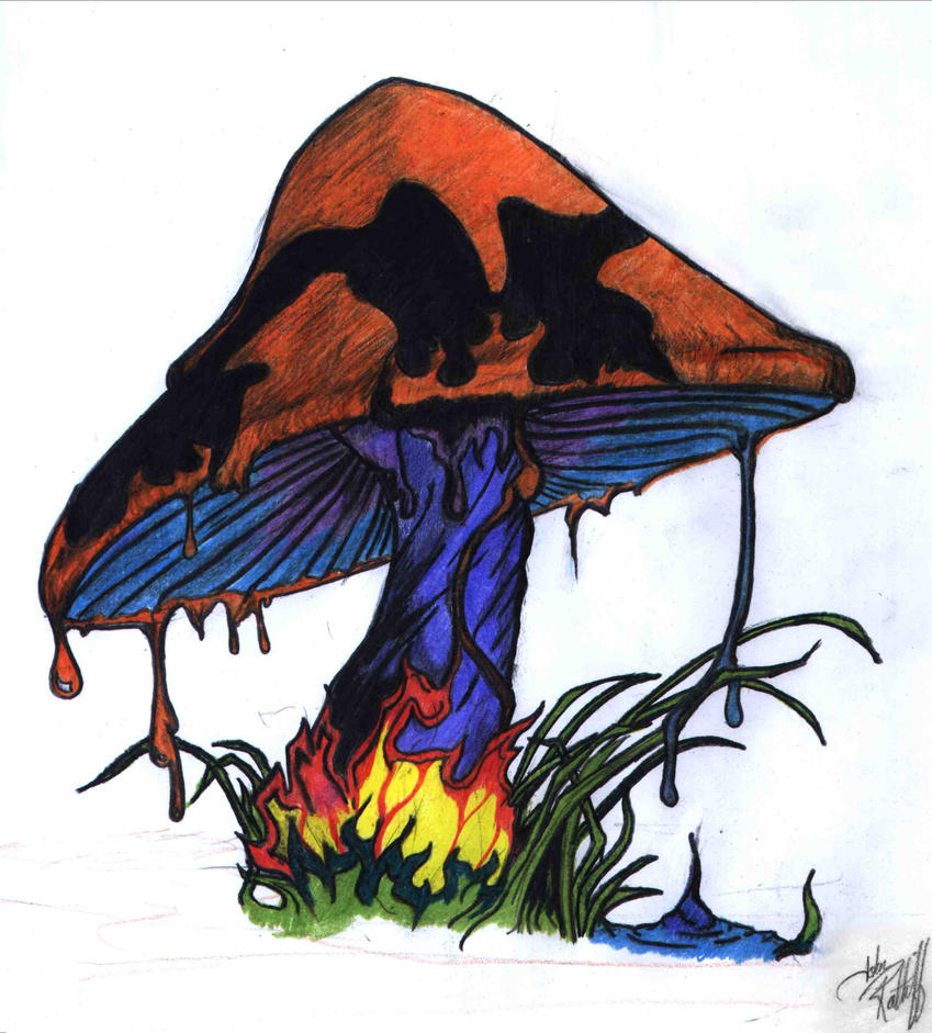 melting shroom by fediciano on deviantart