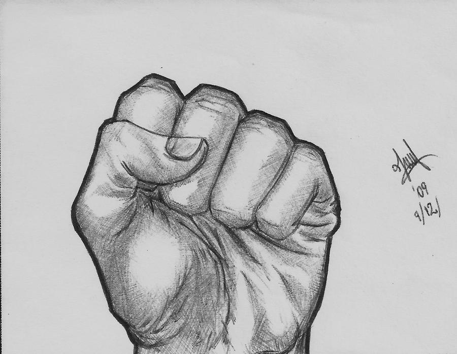 Fist on Biro by greempo