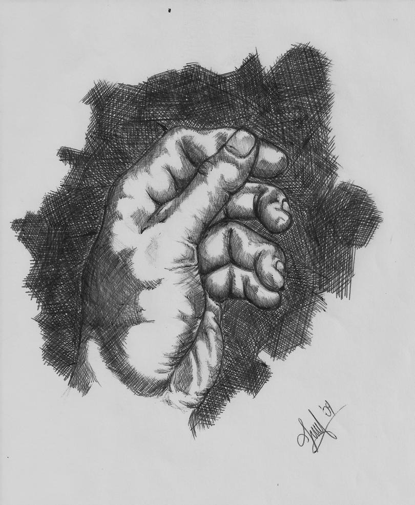 Hand Resting on Biro by greempo