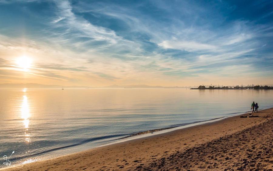 Alameda Beach by SimonVelazquezArt