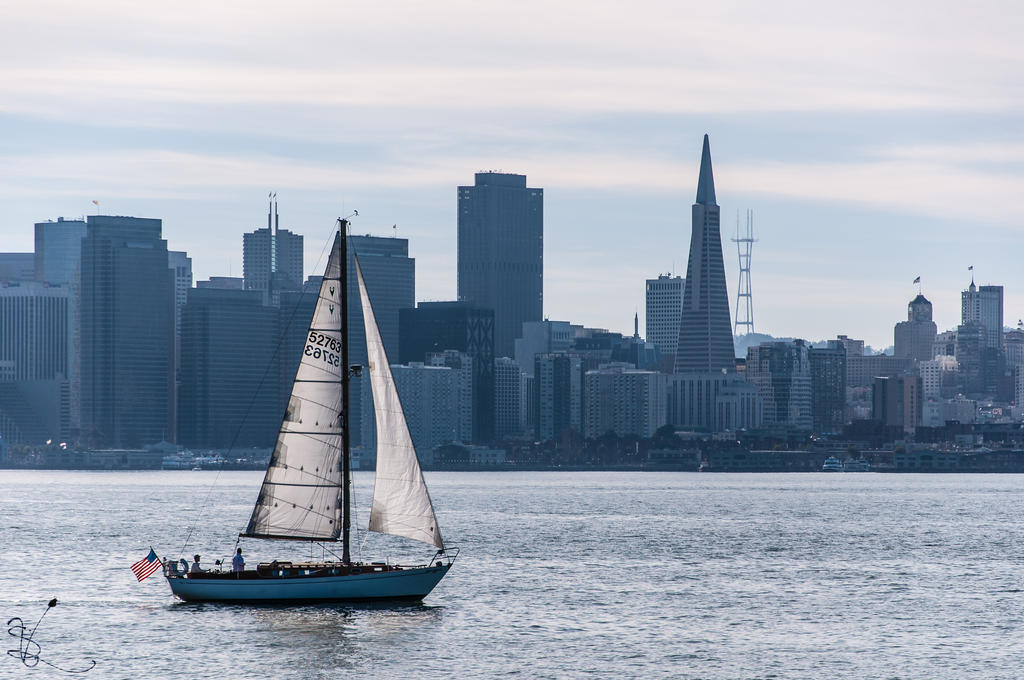 Sailing on the Bay by SimonVelazquezArt