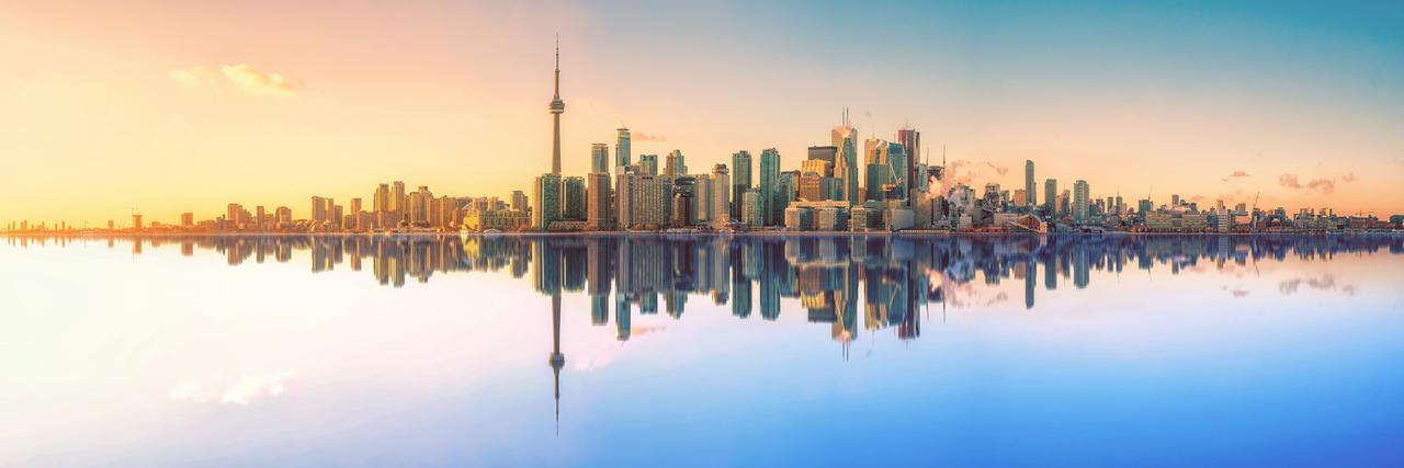 Toronto Skyline by SimonVelazquezArt