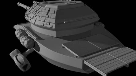 High Poly Tank Concept by Scotti21