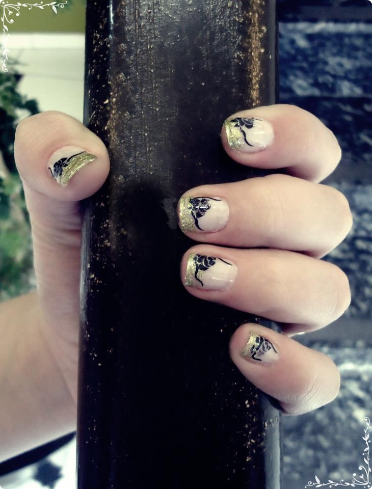 Beauty And The Beast Inspired Nail Art By Rockheartblondie On Deviantart
