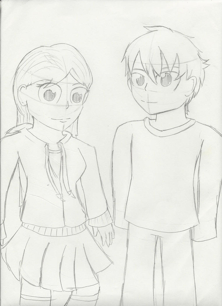 .:AT:. Megumi and Kirito by ifreakinglovegames