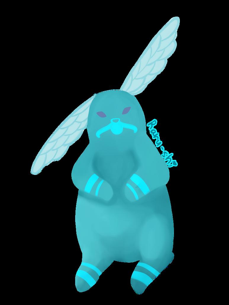Dragonfly bunny spirit by Raru-shi