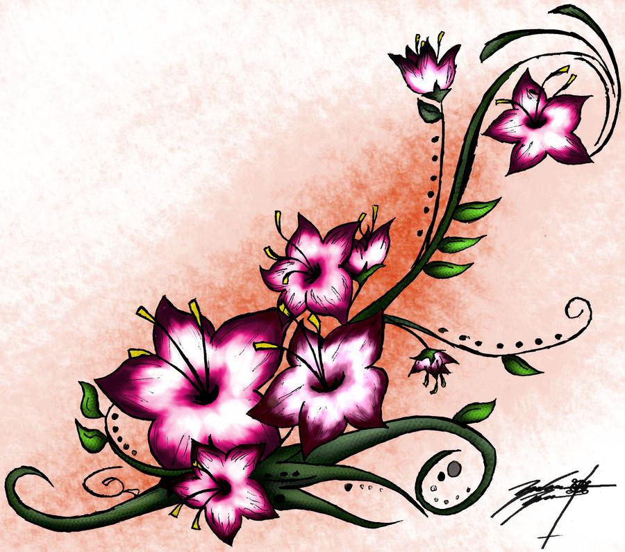 Cherry Blossom Design Dresses