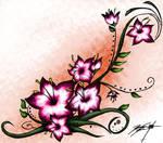 Cherry Blossom Henna Tattoo 2