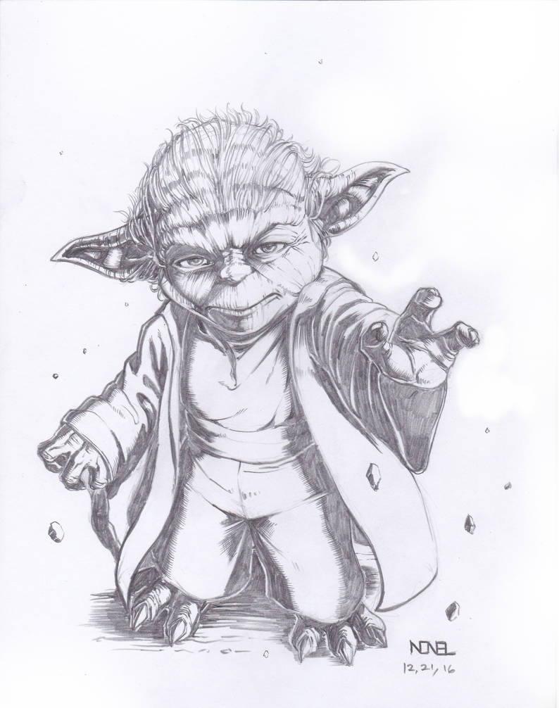 Master yoda pencil sketch by 08lenon