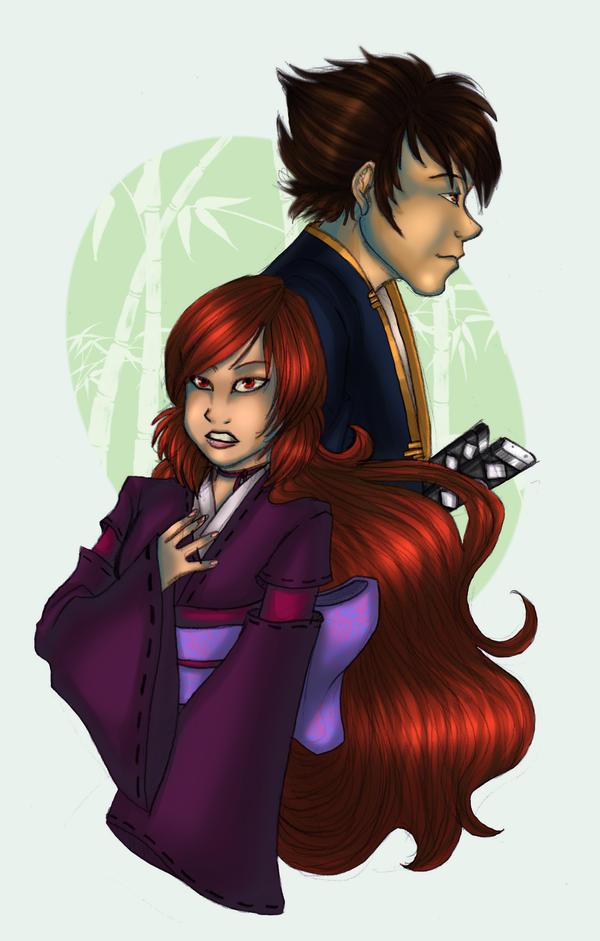 Rikuido and Shimizu by OhSadface