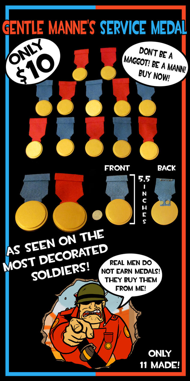 Gentle Manne's Service Medals by OhSadface