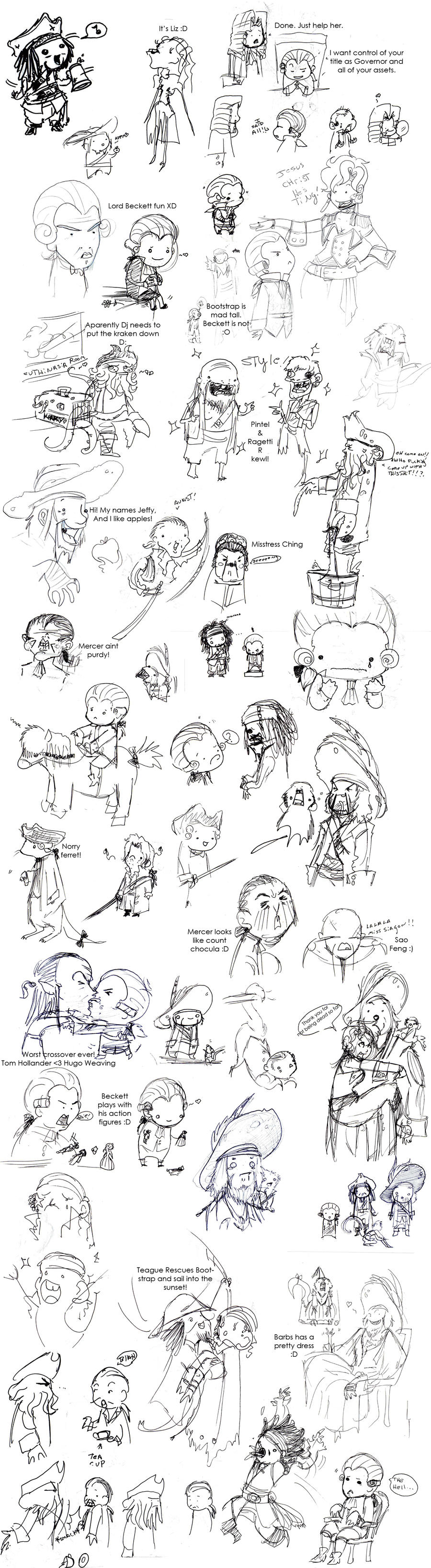 POTC AWE: sketch dump by OhSadface