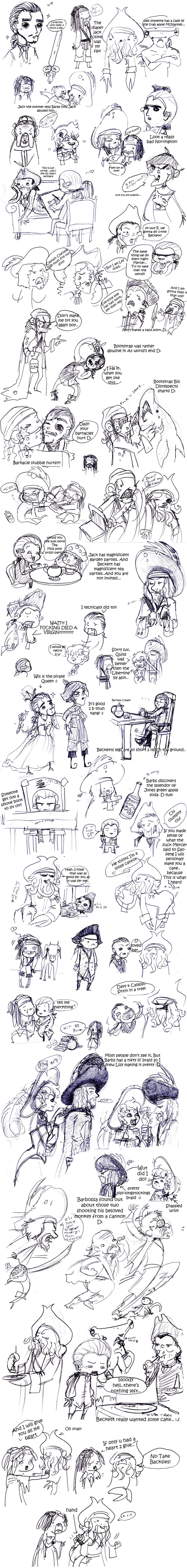 POTC: AWE sketch dump 4 by OhSadface