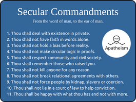 Secular Commandments by doctormo