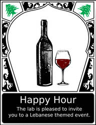 Lebanese Happy Hour Poster