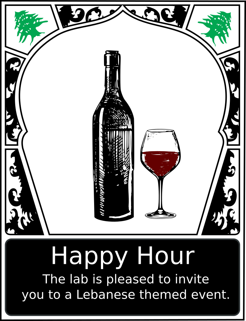 Lebanese Happy Hour Poster by doctormo