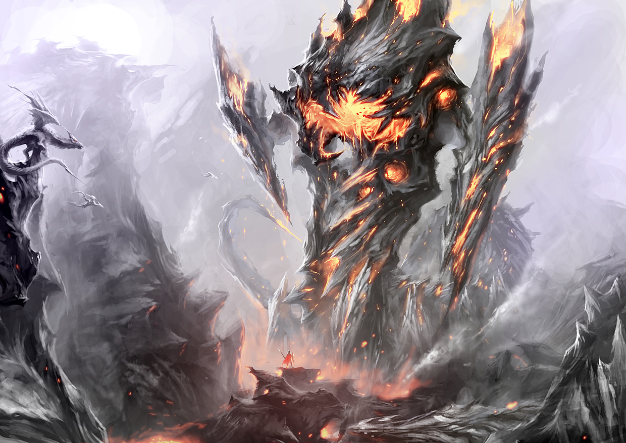 Fire Colossus Final Image by cyl1981