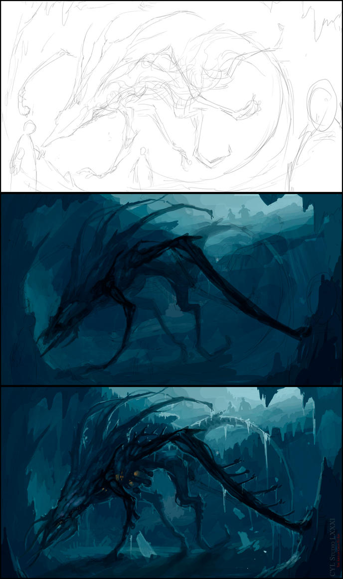 Down There : Concept Art Session 2015/01/13 Steps by cyl1981