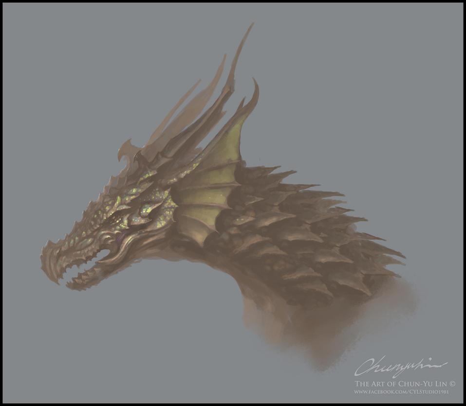 Dragon Head Study Demo- 2015/08/25 by cyl1981
