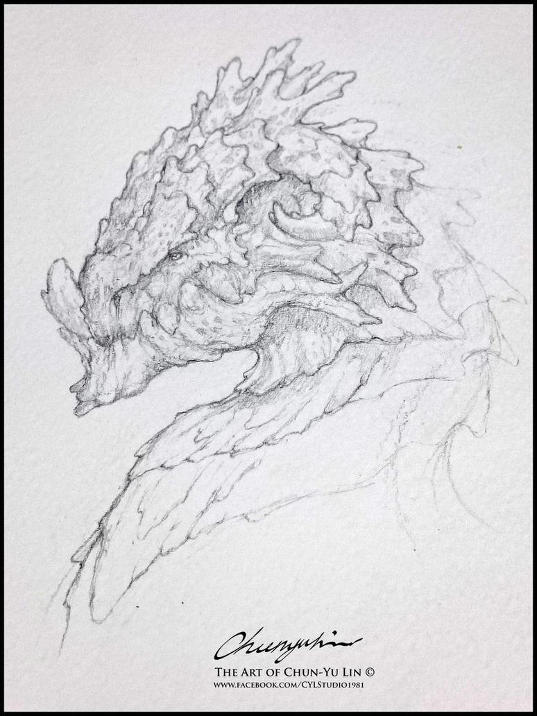 20150903 Dragon Head Study by cyl1981