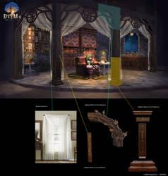 Deemo:Reborn _ TrophyRoom Resting Area Concept Art