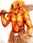 Pyros Gigantis character conecpt