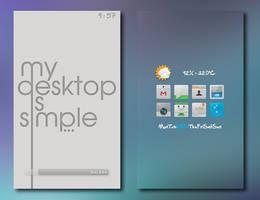 Simple Desktop by desylvia