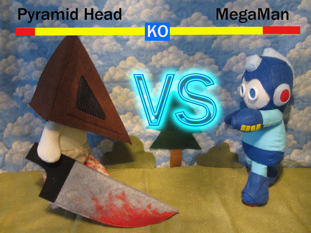 Pyramid vs Megaman by Rei2jewels