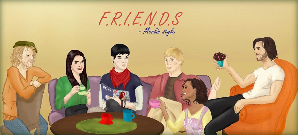 Merlin, Friends AU by KingAndSorcerer on DeviantArt