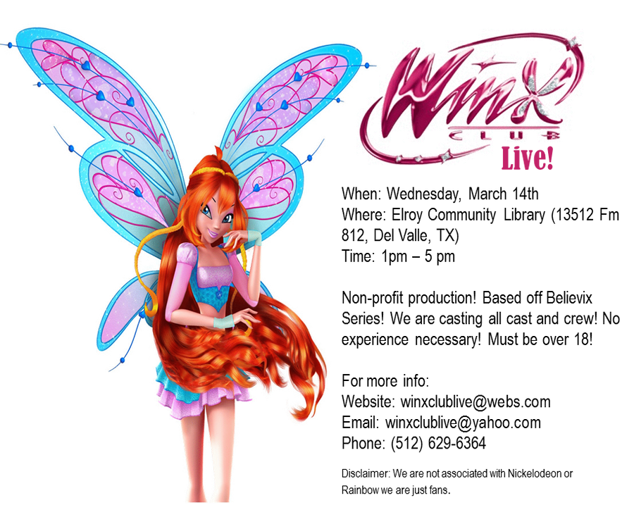 Winx Club Live! Auditions by sailormoonhp4life on DeviantArt