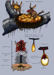 Harvester Starmouse and Hanging Lantern Tree