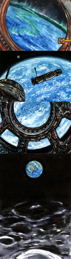 Four views of Earth